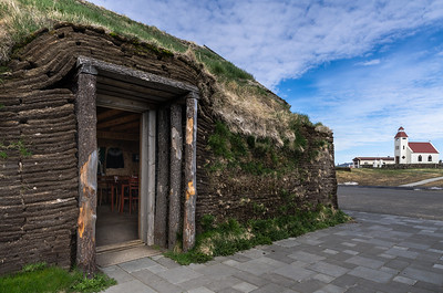 Traditional sod house in Möðrudalur