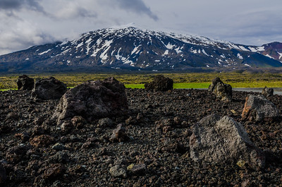 Lava field in front of Snæfellsjökull