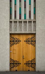 Door to Akureyrarkirkja