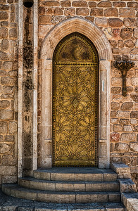 Golden door in Old Jaffa
