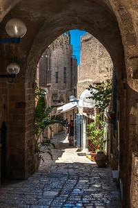 Narrow street in Old Jaffa