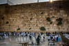 The wailing wall at sunrise