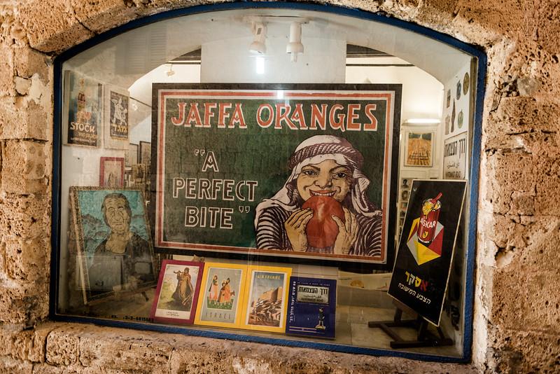 Shop display window in Old Jaffa