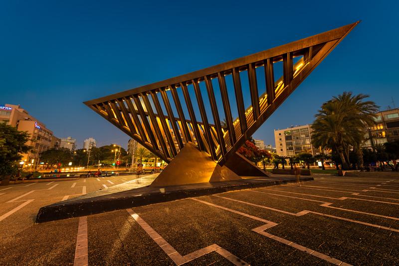 Sculpture in Rabin Square