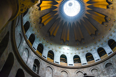 Dome of  the Church of the Holy Sepulcher in Jerusalem