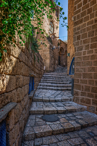 Stairs in the Old City of Jaffa neighborhood of Tel Aviv Israel