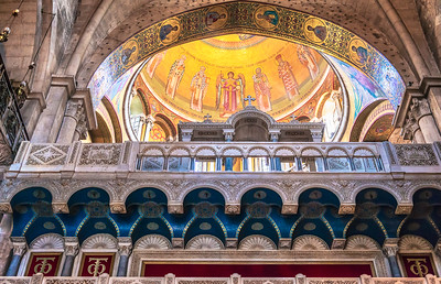 Architectural details of  the Church of the Holy Sepulcher in Jerusalem