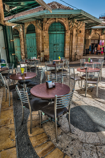 Courtyard cafe in Old Jeruslaem