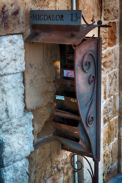 Mailbox in Old Jaffa Israel