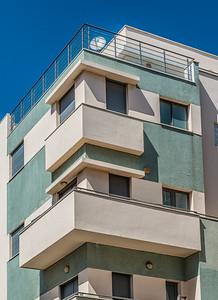 Details of Bauhaus architecture in Tel Aviv