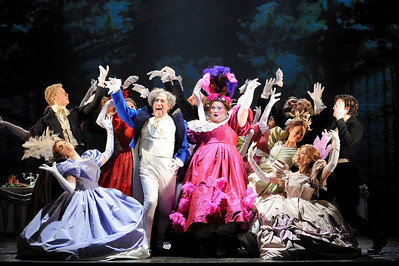 Les Misérables by Cameron Mackintosh, opening night November 28 2010, Paper Mill Playhouse, 22 Brookside Dr., Millburn New Jersey with LAWRENCE CLAYTON (Jean Valjean) ANDREW VARELA (Javert) MICHAEL KOSTROFF (Thénardier) SHAWNA M. HAMIC (Mme. Thénardier) BETSY MORGAN (Fantine) JEREMY HAYS (Enjolras) CHASTEN HARMON (Éponine) JUSTINE SCOTT BROWN (Marius) JENNY LATIMER (Cosette) RON SHARPE (Jean Valjean Alternate)
