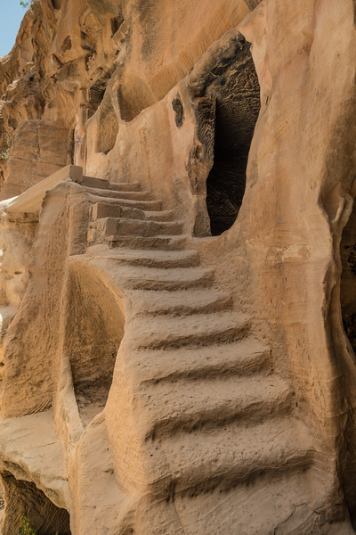 Eroded staircase in Little Petra