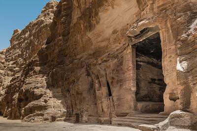 Ancient doorway in Little Petra