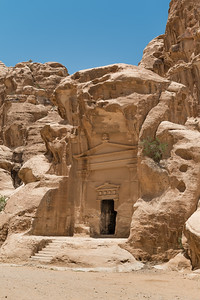 Facade of a mausoleum in Little Petra
