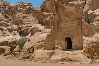 Facade of a mausoleum in Little Petra