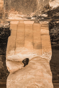 Eroded column detail in Little Petra
