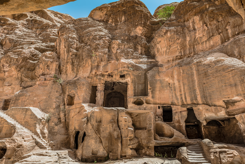 Ancient doorways in Little Petra