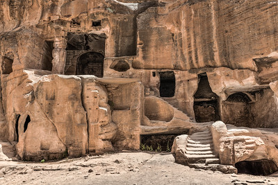 Ancient doorways in Little Petra