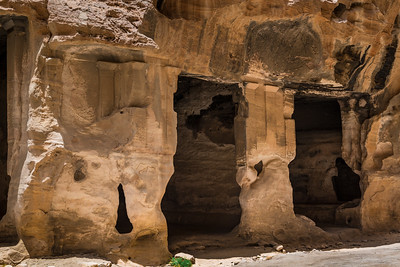 Eroded columns in Little Petra