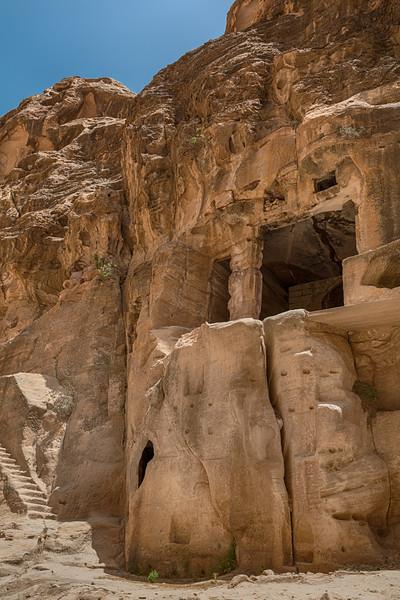 Painted Biclinium in Siq Al Barid (Little Petra) Jordan