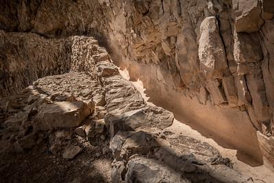 Water canal at Masada