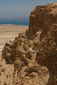 Cliff of Masada and the Dead Sea