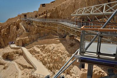 Walkways at Masada National Prak