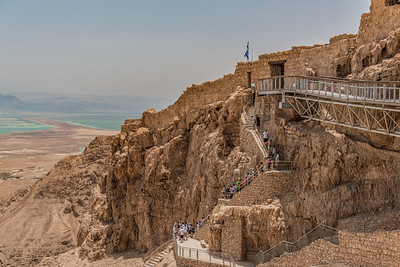 Stairs at the Fortress of Masada