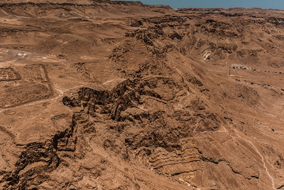 View of the desert floor near Masada