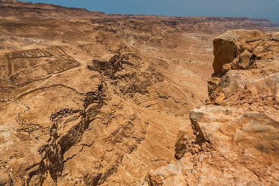 View of the location of the Roman Camp at Masada