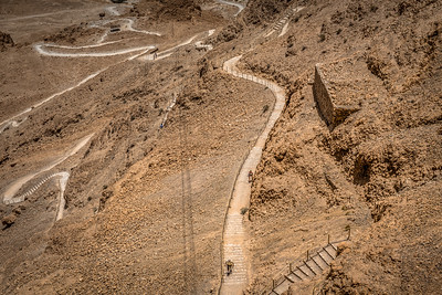 View of the Snake Path at Masada