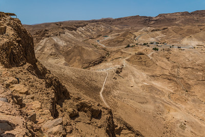 View of the Roman attack ramp at Masada
