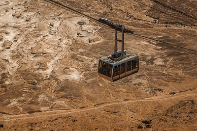 Gondola going up to Masada