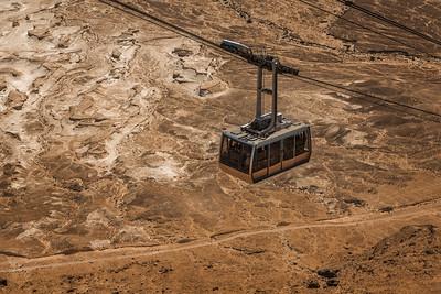 Gondola going up to Masada
