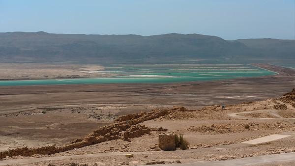 Salt flats south of the Dead Sea