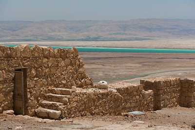 Fortress walls at Masada National Park