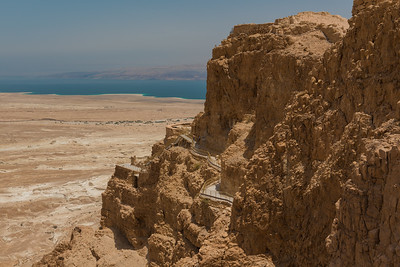 Cliff of Masada and the Dead Sea