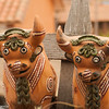 Ceramic oxen, Chinchero, Inca Sacred Valley, Peru
