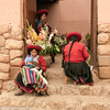 Women selling fresh flowers,Chichero, Inca Sacred Valley, Peru