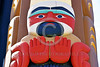 """TotPol 00692 A superb, well carved, excellent condition, human form showing hands or feet, suggesting """"STOP"""", totem pole detail picture by Peter J  Mancus"""