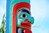 TotPol 00787 A well carved, excellent condition, human face hooked nose totem pole detail picture by Peter J  Mancus