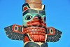 TotPol 00687 A well carved, excellent condition, bird inspired totem pole detail picture by Peter J  Mancus