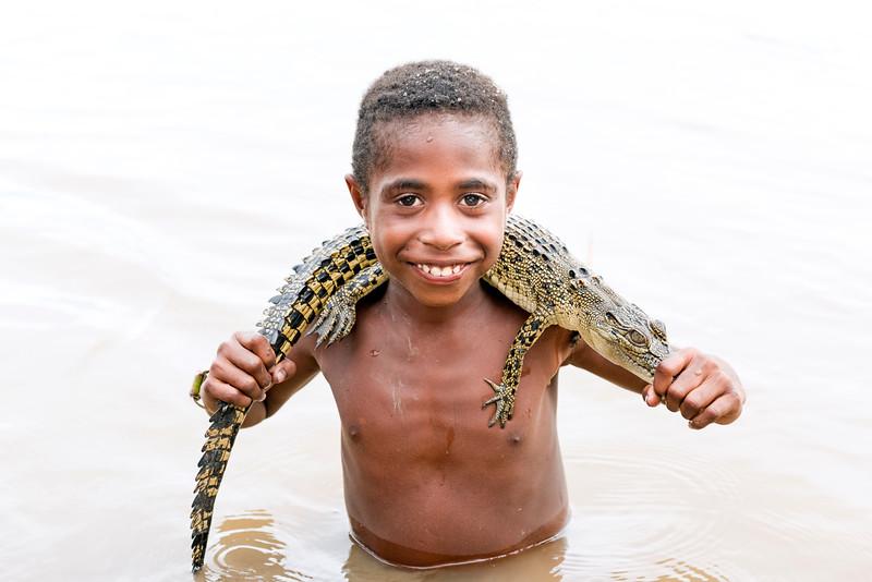 Mumeri Village, Yatmul Tribe, Black Water lakes, PNG
