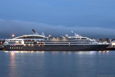 Deluxe cruise ship LE BOREAL @ Hafnarfjördur Iceland 28Jul10