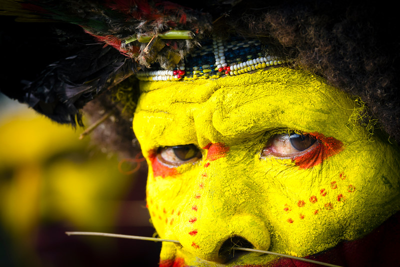 Huli wigmen, tari, PNG