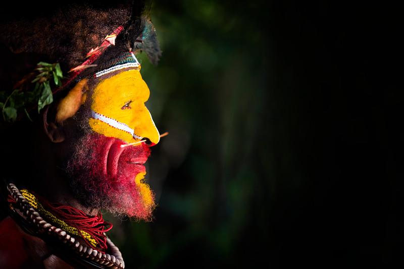 Huli wigmen, Tigibi village, Tari highlands, PNG