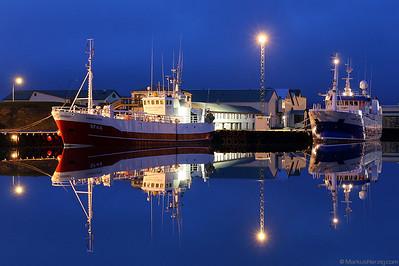 Trawlers Sigurdur Olafsson SF44 and Hvanney SF51 @ Hornafjordur Iceland 3Aug10