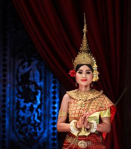 Apsara dancer.