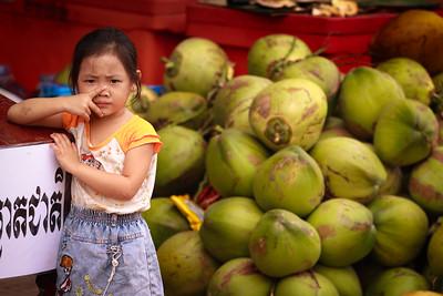 The little coconut seller, Siem Reap.