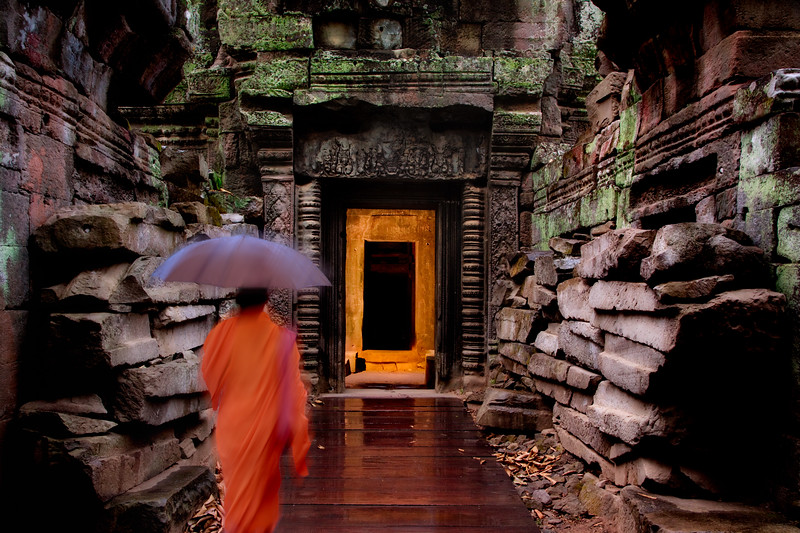 Chamber of Secrets.<br /> <br /> Ta Prohm temple, Angkor Archaeological Park.